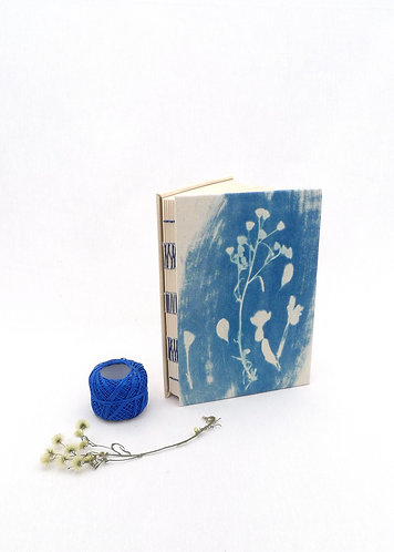 'flow' handmade cyanotype notebook