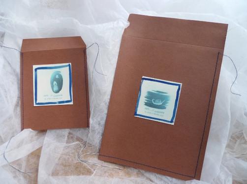 artisan packages for the cyanotype prints, especially designed for 'Hayal-et Khalkedon'-'Imagine Khalkedon' exhibition.