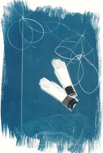 'capturing life: traces of memories' cyanotype monoprint