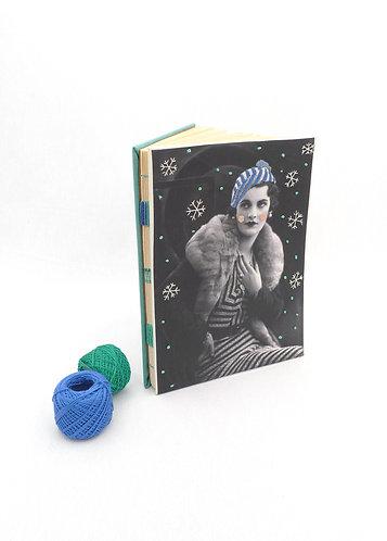 'mrs. snowflakes' handmade notebook
