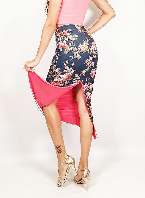 Stunning Tokio  Floral & Coral Pink Tango Skirt