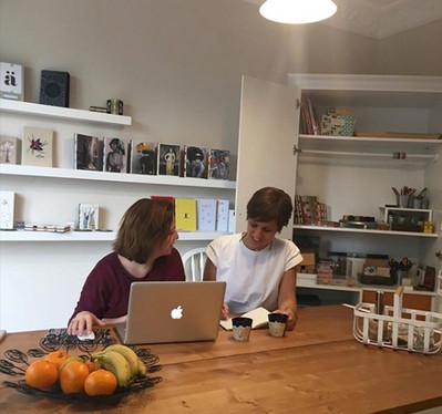 a creative meeting of the team; Evren Kıvançer and Meltem Aybar.