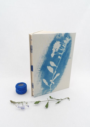 'under stars' handmade cyanotype notebook