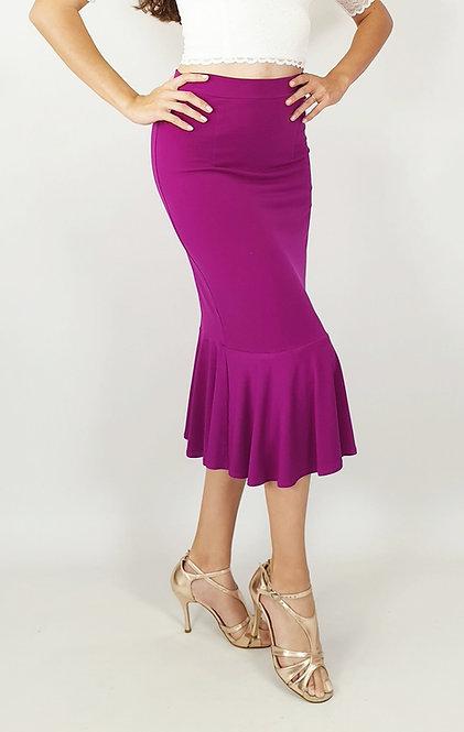 Isabel - Fuschia Purple Tango Skirt
