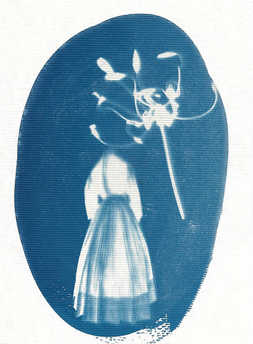 'capturing life: traces of memories' cyanotype monoprint on paper