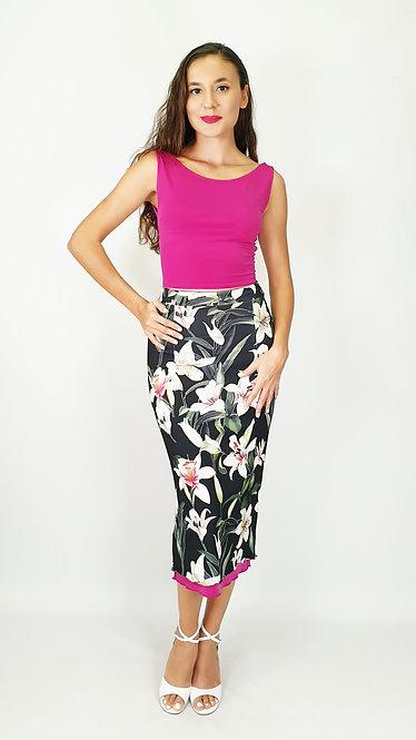 Top: Julia Fuschia - Skirt: Granada Gaze Floral & Fuschia