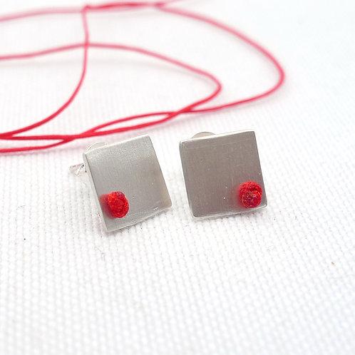 'knotted' silver handmade stud earrings, unisex