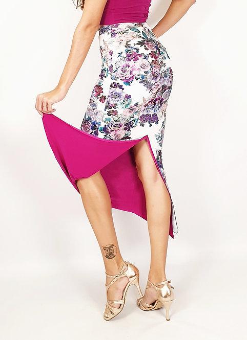 Shangai Essence Floral & Fuschia Tango Skirt