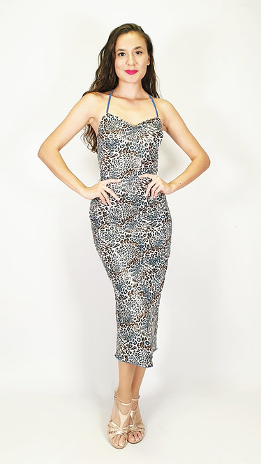 Sweet Leopard - Animalic Blue Tango Dress