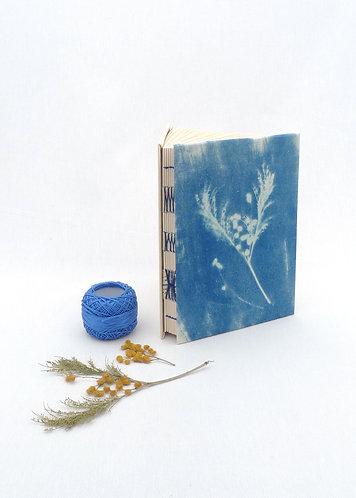 'breathe' handmade cyanotype notebook