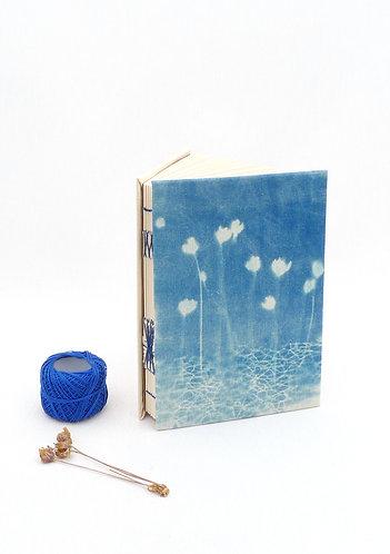 'sweet spring' handmade cyanotype notebook