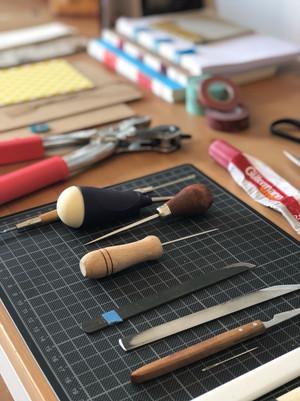tools of a bookbinder