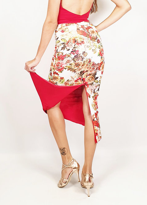 Casablanca Wind Floral & Red Tango Skirt