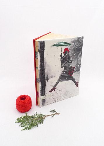 'feel the rain' handmade notebook
