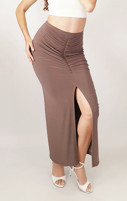 Claire - Dark Beige Tango Skirt