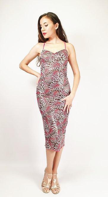 Miami Heat - Animalic & Fuschia Tango Dress