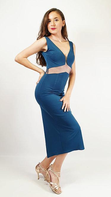 Angelina - Petroleum Blue Tango Dress