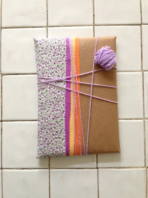custommade package for the handmade notebook.