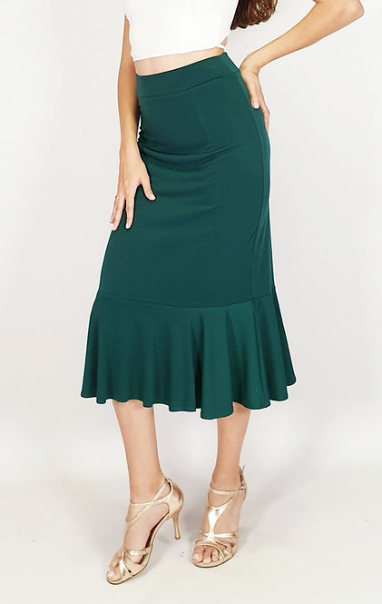 Isabel - Dark Green Tango Skirt