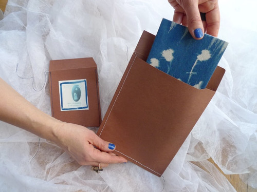 handmade packages for the cyanotype prints.