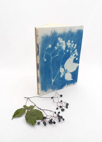 'autumn whispered' handmade cyanotype notebook