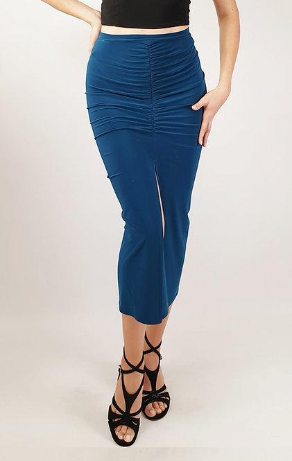 Claire - Petroluem Blue Tango Skirt