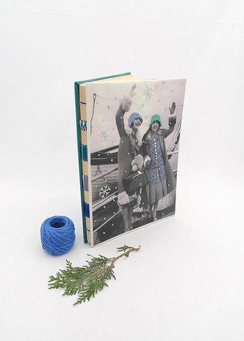 'let ıt snow' handmade notebook