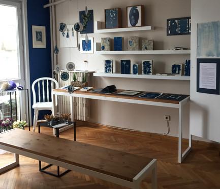 cyanotype-blue print works from 'Hayal-et Khalkedon'-'Imagine Khalkedon', 2019.