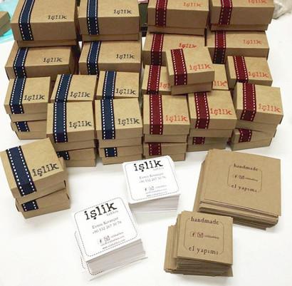 handmade packages of İşlik Atelier.