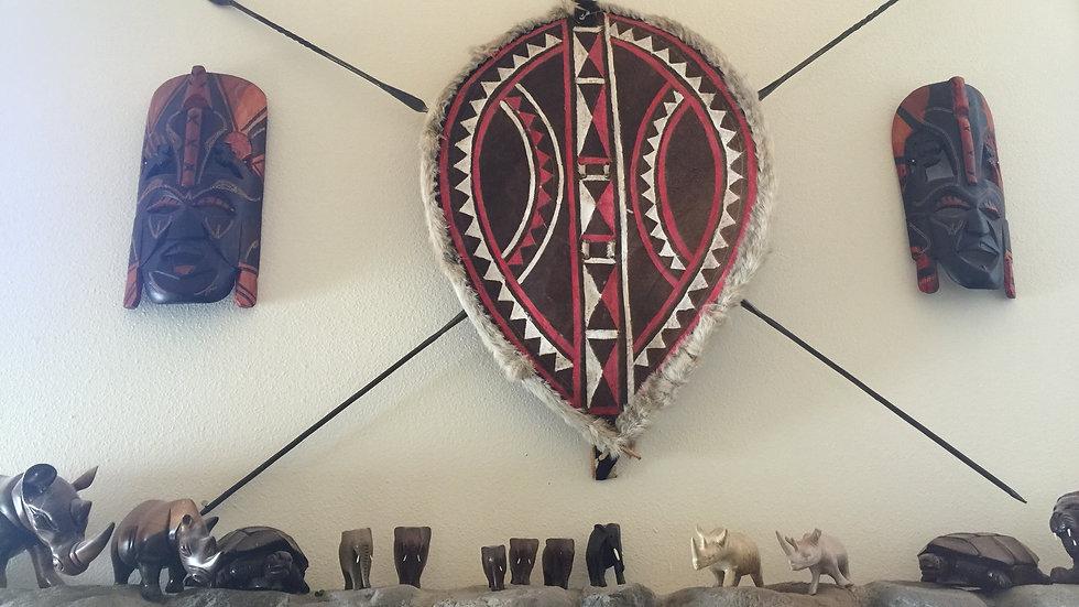 Maasai Shield & Spears