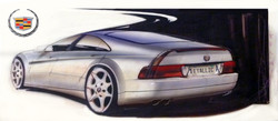 Cadillac Seville STS coupe' Sketch