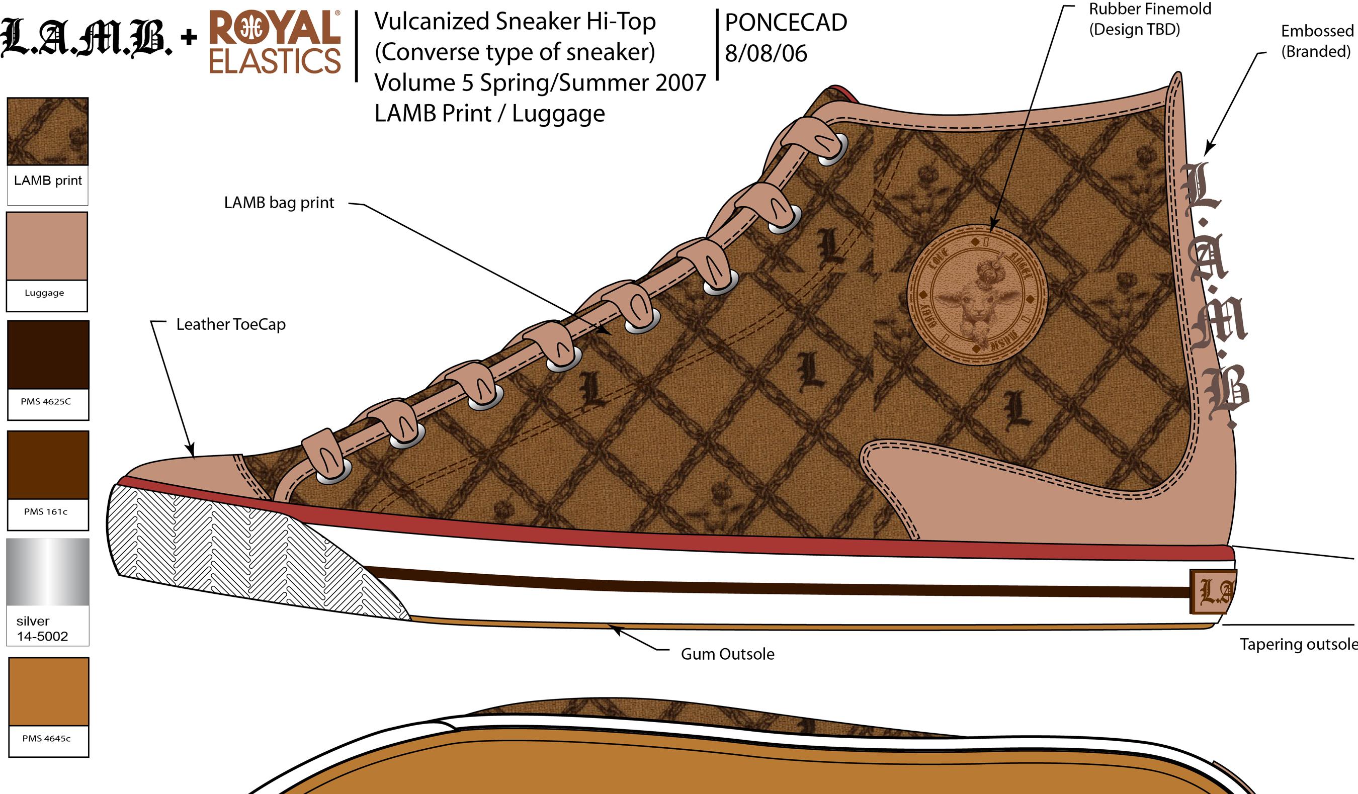 LAMB Vulcanized Sneaker Side Hi Top