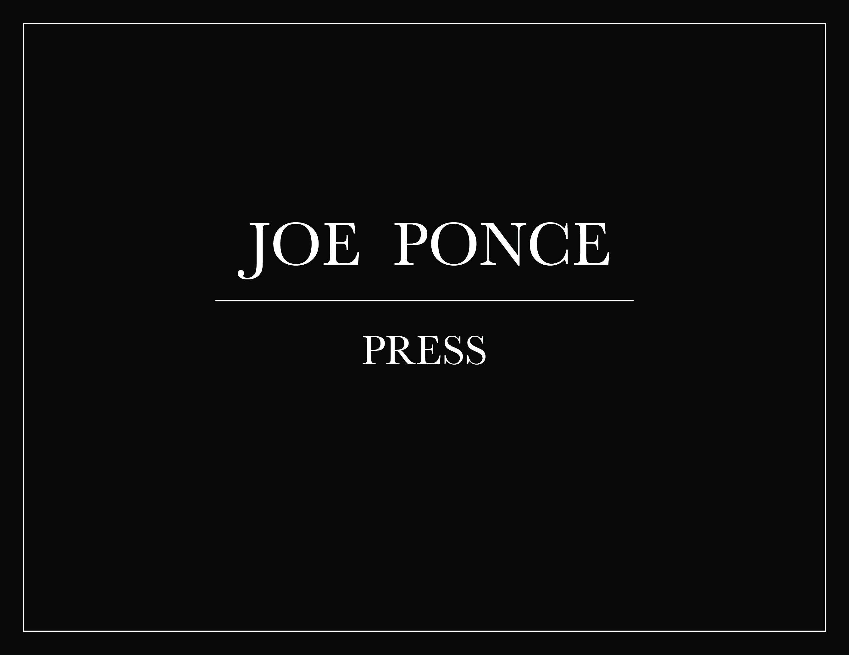 Joe Ponce Press