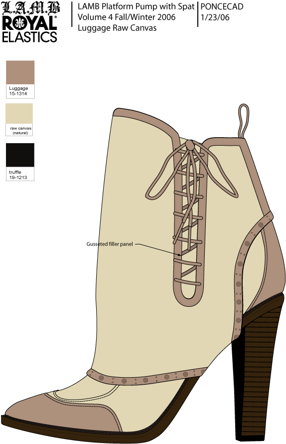 Corset Bootie, Natural Raw Canvas