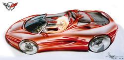Corvette Mid-Engine Sketch