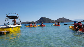 Canoe trip to to the Island Coronisi