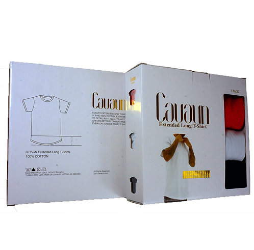 3 PACK EXTENDED LONG T SHIRTS
