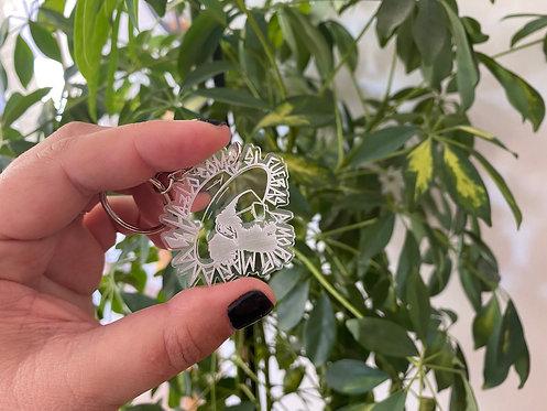 Llavero Leiva transparente