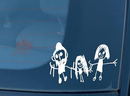 Pegatina familia a bordo personalizada