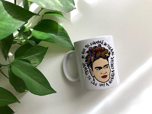 Taza blanca Frida de Sara Fv
