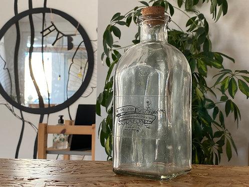 Botella de cristal para eventos