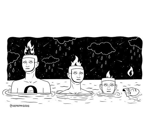 """""""Fuego"""" de @Ilustroamigusto"""