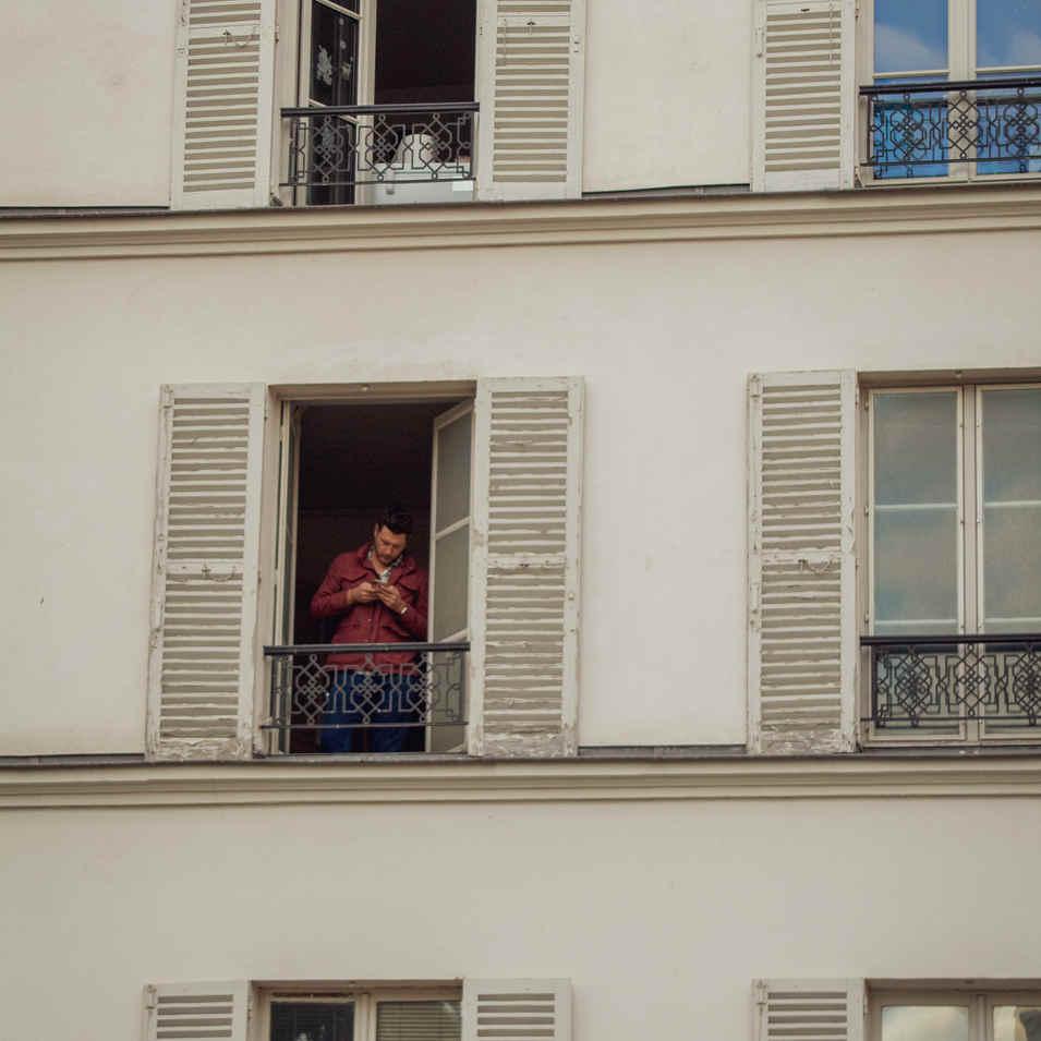 Man At Window - Paris