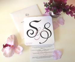 Monogram Wedding Invitation Suite