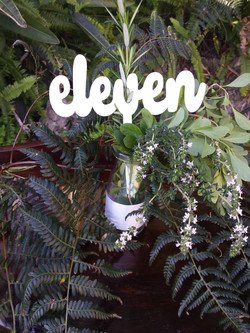 White rustic table numbers