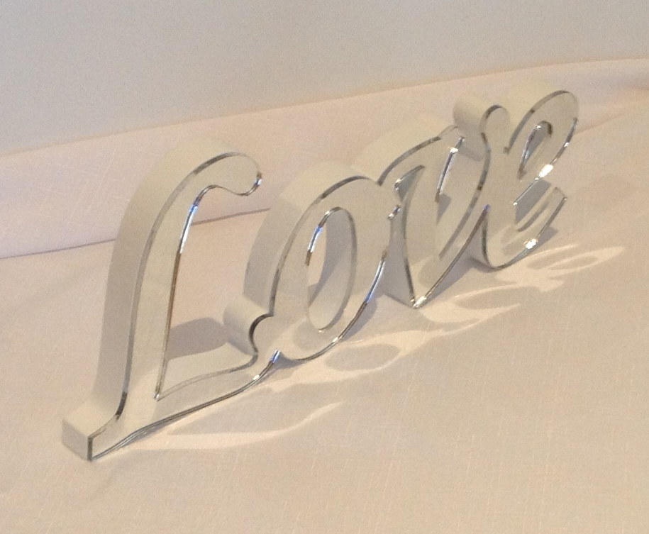 Mirrored Love Word