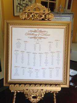Gold and White Seating Plan