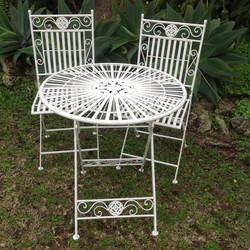 White Wrought iron set