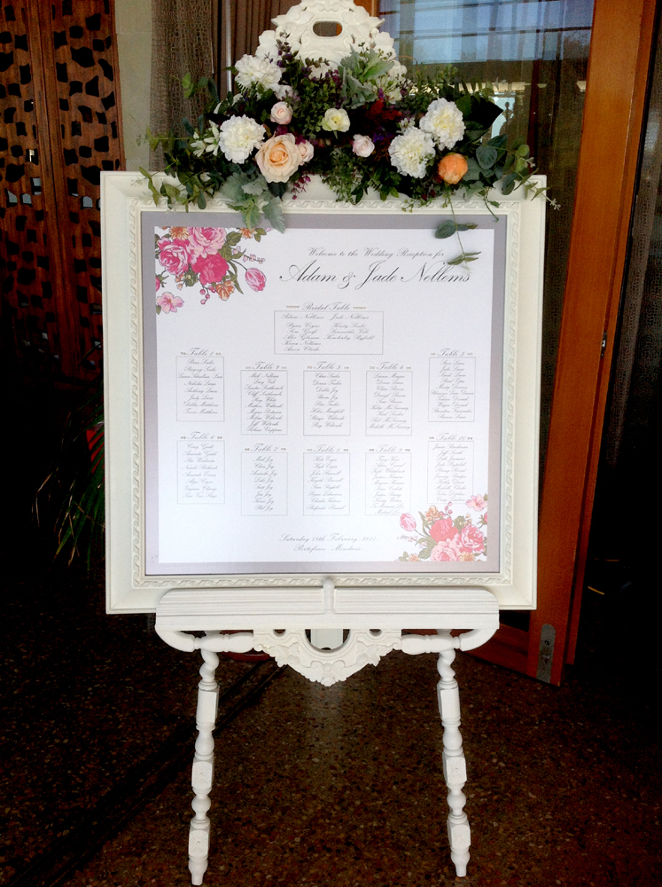Seating plan at the Venue
