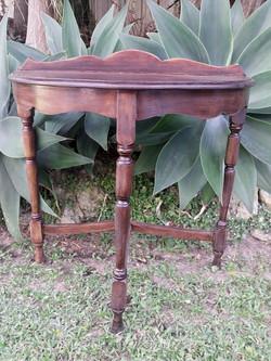 Half round rustic table